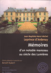 MEMOIRES D'UN NOTABLE MANCEAU AU SIECLE DES LUMIERES